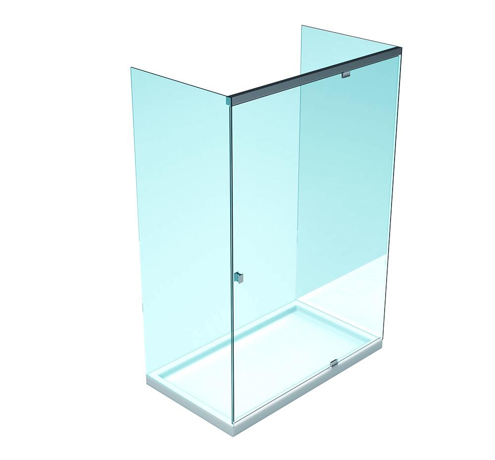 SLASH Hidrolik Duş Kabini – İki sabit cam arası – Tek Kanat