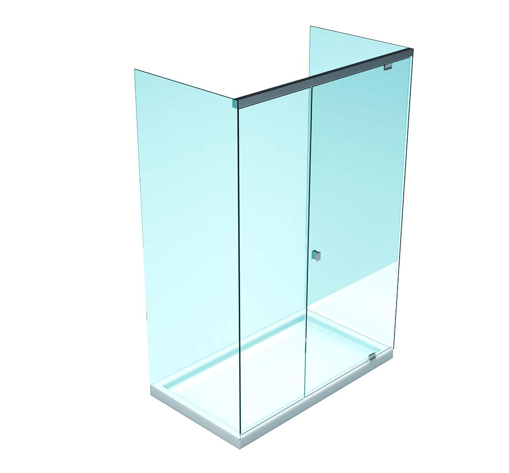 SLASH Hidrolik Duş Kabini –  İki sabit cam arası – Bir Kanat Bir Sabit