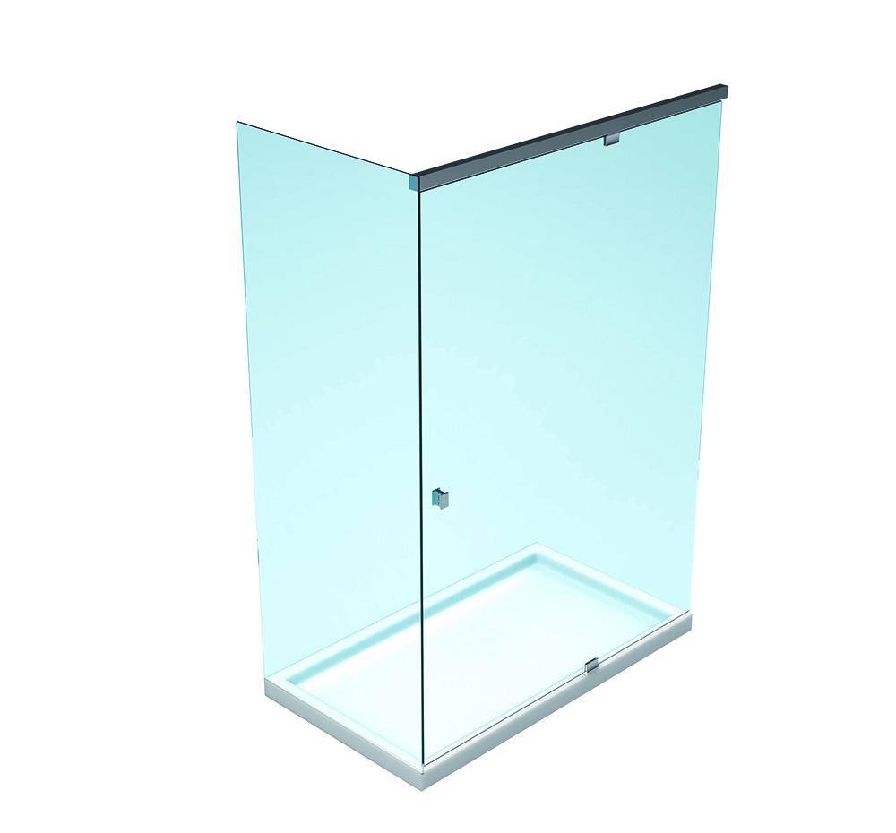 SLASH Hidrolik Duş Kabini – Duvar ve sabit cam arası köşe seti – Tek Kanat