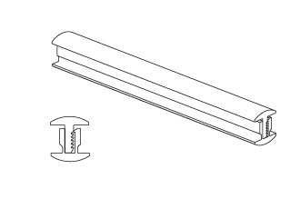 PCC17/3 – İki Yollu Aluminyum Birleşim Profili – 8-1238mm